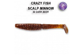 Виброхвост Crazy Fish SCALP MINNOW 7-8-32-6