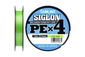 Плетёный шнур Sunline SIGLON PEx4 Light Green 150m #0.8/12lb