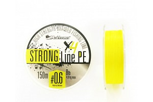 Плетеный шнур Mottomo Strong Line PE #0.6/4kg 150m Fluo Yellow