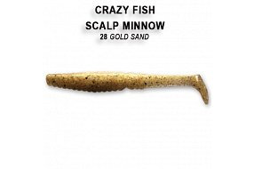 Виброхвост Crazy Fish SCALP MINNOW 7-8-28-6