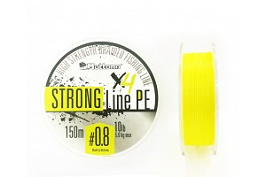 Плетеный шнур Mottomo Strong Line PE #0.8/5kg 150m Fluo Yellow