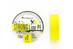 Плетеный шнур Mottomo Strong Line PE Fluo Yellow #1.0/6kg 150m