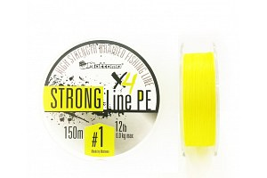 Плетеный шнур Mottomo Strong Line PE #1.0/6kg 150m Fluo Yellow
