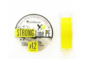 Плетеный шнур Mottomo Strong Line PE #1.2/7kg 150m Fluo Yellow