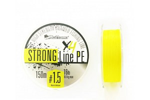 Плетеный шнур Mottomo Strong Line PE #1.5/8kg 150m Fluo Yellow