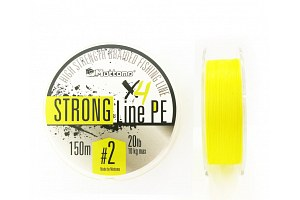 Плетеный шнур Mottomo Strong Line PE #2.0/10kg 150m Fluo Yellow