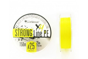 Плетеный шнур Mottomo Strong Line PE #2.5/12kg 150m Fluo Yellow