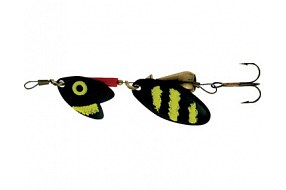 Блесна Mepps TROUT TANDEM Black/Yellow№1 блистер