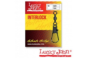 Вертлюги c застежкой LJ BARREL AND INTERLOCK Black №22 (10шт.)