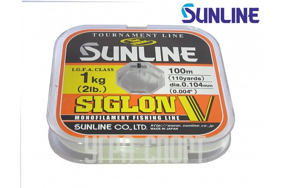 Леска Sunline SIGLON V 100m Clear 0.104mm 1kg
