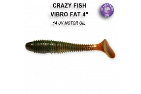 Виброхвост Crazy Fish VIBRO FAT 4