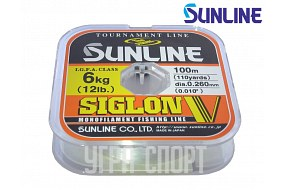 Леска Sunline SIGLON V 100m Clear 0.260mm  6kg