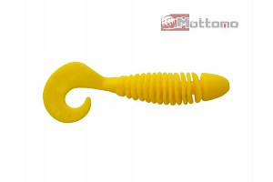 Твистер Mottomo Magic Grub 8см Chartreuse Yellow 5шт.