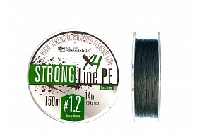 Плетеный шнур Mottomo Strong Line PE Dark Green #1.2/7kg 150m