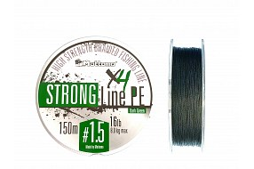 Плетеный шнур Mottomo Strong Line PE Dark Green #1.5/8kg 150m