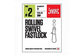 Вертлюги c застежкой LJ Pro Series ROLLING SWIVEL FASTLOCK 004 7шт.