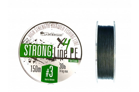Плетеный шнур Mottomo Strong Line PE Dark Green #3.0/14kg 150m