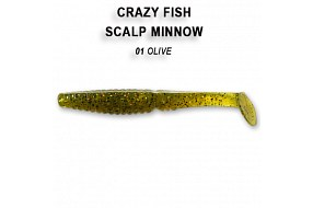 Виброхвост Crazy Fish SCALP MINNOW 7-8-1-6