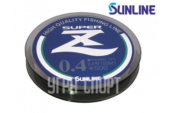 Леска Sunline SUPER Z 50m Clear #0.4/0.104mm 0.96kg