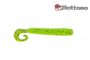 Твистер Mottomo Jim Worm 6,2см Chartreuse Pepper 6шт.