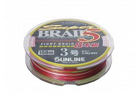 Плетеный шнур Sunline BRAID 5 8 BRAID 150m #3 0.270mm 17кг