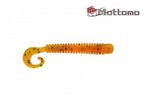 Твистер Mottomo Jim Worm 6,2см Orange Green Pepper 6шт.