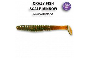 Виброхвост Crazy Fish SCALP MINNOW 7-8-14-6